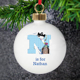 Personalised Pirate Letter Bauble