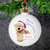 Personalised Teddy Christmas Bauble