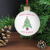 Personalised Merry Christmas Tree Bauble