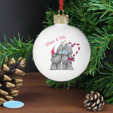 Personalised Me To You Couple Christmas Bauble