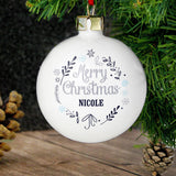 Personalised Christmas Frost Bauble