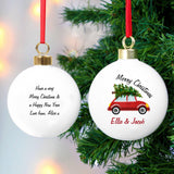 Personalised 'Driving Home For Christmas' Bauble