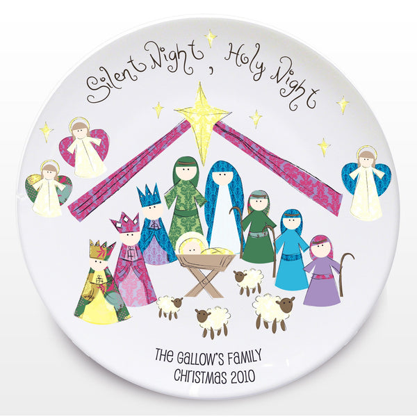 Personalised Silent Night Keepsake Plate