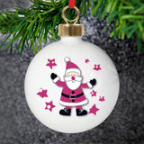 Personalised Spotty Santa Bauble