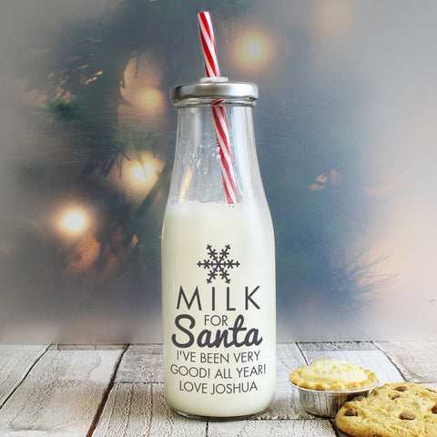 Personalised Milk for Santa Milk Bottle
