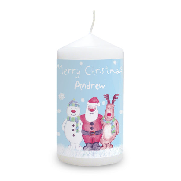 Personalised Snow Scene Candle