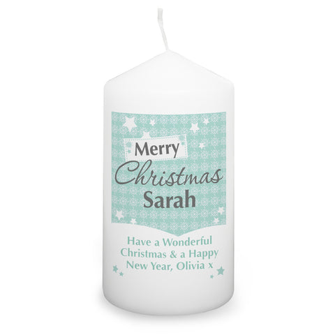 Personalised Snowflake Candle