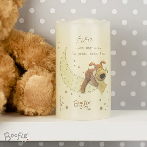 Personalised Boofle Baby Nightlight LED Candle
