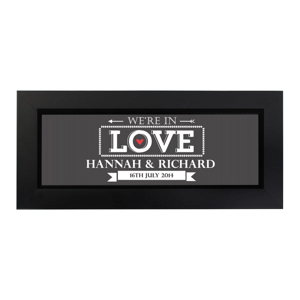 Personalised In Love With Name Frame