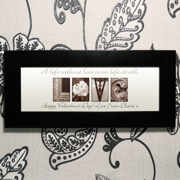 Personalised Affection Art Love Small Frame