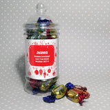 Personalised Christmas Traditional Toffee Jar