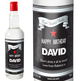 Personalised Classic Black & Silver Vodka