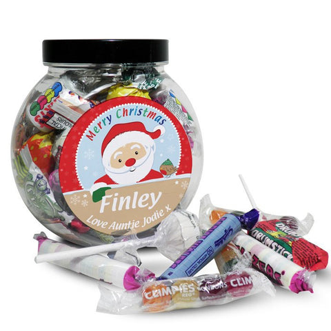 Personalised Santa Sweet Jar