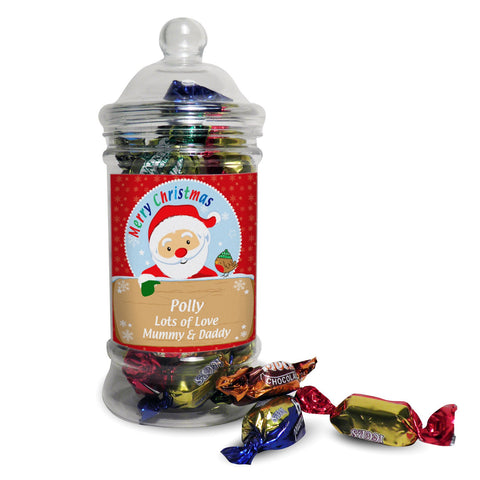 Personalised Santa Toffee Jar