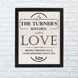 Personalised Full of Love Framed Print