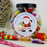 Personalised Felt Stitch Santa Sweet Jar