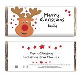 Personalised Reindeer Milk Chocolate Bar