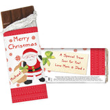 Personalised Felt Stitch Santa Milk Chocolate Bar