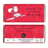 Personalised Purple Ronnie Male Christmas Milk Chocolate Bar