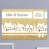 Personalised Festive Village Metal Sign
