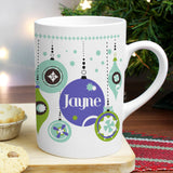 Personalised Retro Bauble Slim Mug