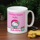 Personalised Hello Kitty Pink Christmas Mug