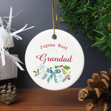 Personalised Classic Christmas Round Decoration