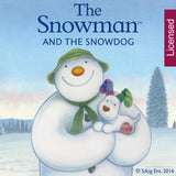 Personalised The Snowman and the Snowdog Friends Round Ceramic Decoration
