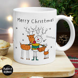 Personalised Purple Ronnie Reindeers Male Mug