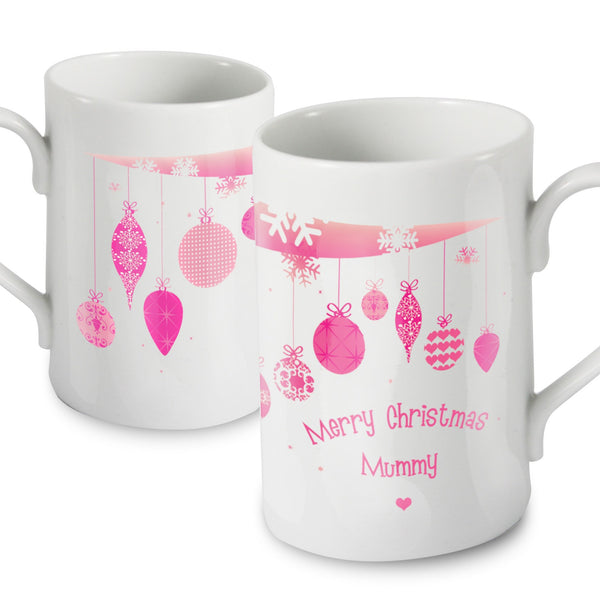 Personalised Christmas Bauble Slim Mug