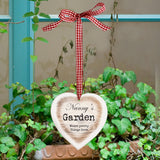 Personalised Rustic Wooden Heart Shaped Decoration