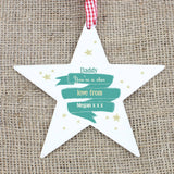 Personalised Shining Star Wooden Star Decoration