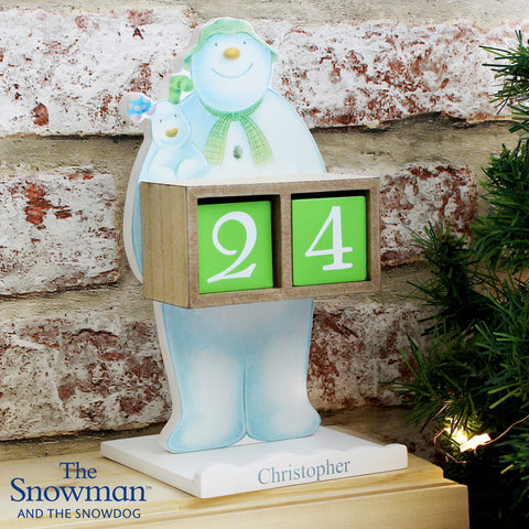 Personalised The Snowman and the Snowdog Advent Calendar