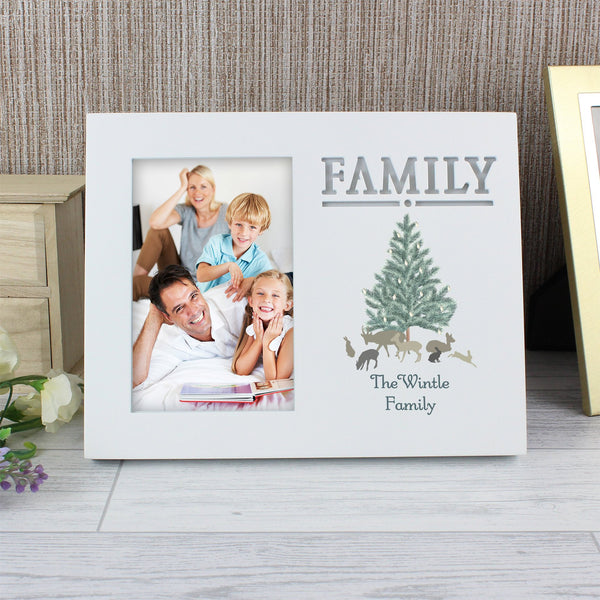 Personalised A Winter's Night Family 6x4 Light Up Frame