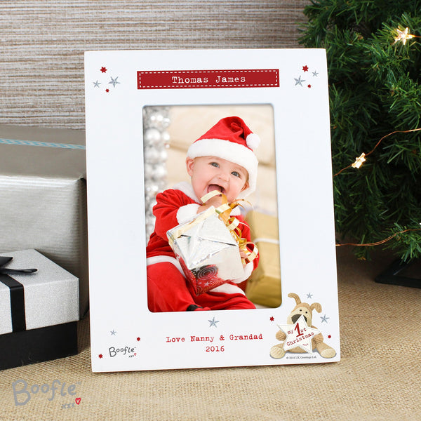 Personalised Boofle My 1st Christmas 6x4 Photo Frame