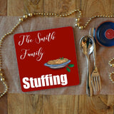 a personalised stuffing placemat