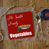 a personalised vegetable placemat