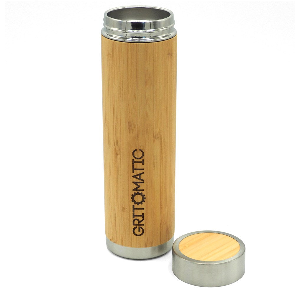 Vacuum Stainless Steel Bamboo Bottle