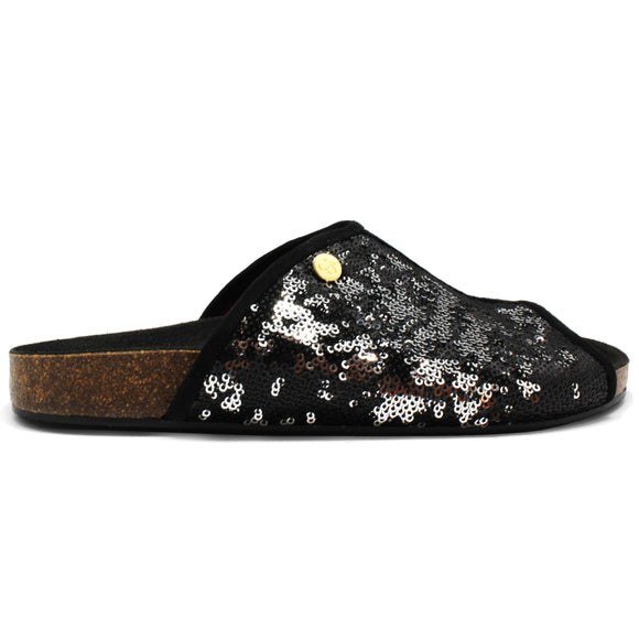 Ananas - Black Sequin- LAST PAIR!