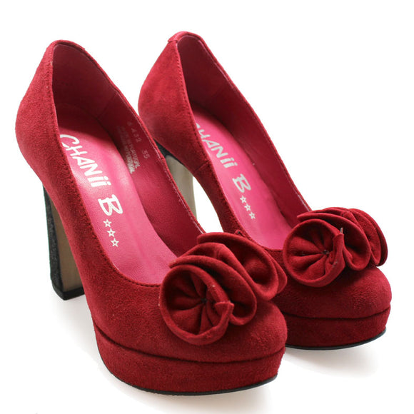 Angle-red suede SIZE 35 & 41 LEFT!
