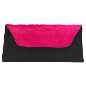 Fold Clutch - Black Fuchsia