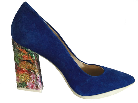 Paillette- blue with sequins