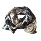 Scarf - White/Green Print