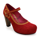 Cognac - Red Suede