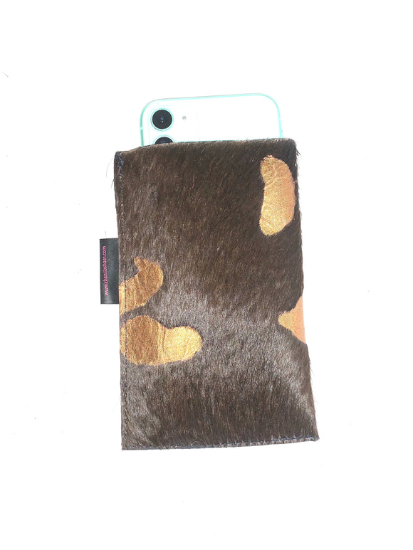 Phone Sleeve-Brown bronze
