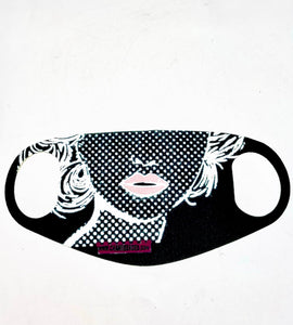 MASK -BLACK AND WHITE BETTY DECO DOT