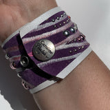 Caroline Rocha - Purple leather cuff