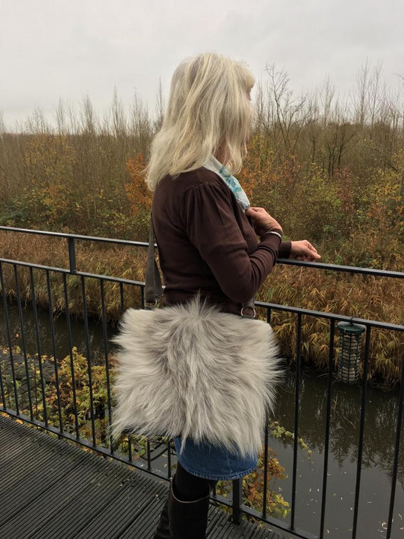 Feathers- fur handbag- exclusive online