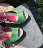 Soliel- Lime Green/Gold-LAST PAIR 36!