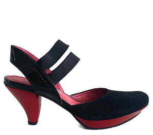 Madame black suede/red- LAST PAIR 38!